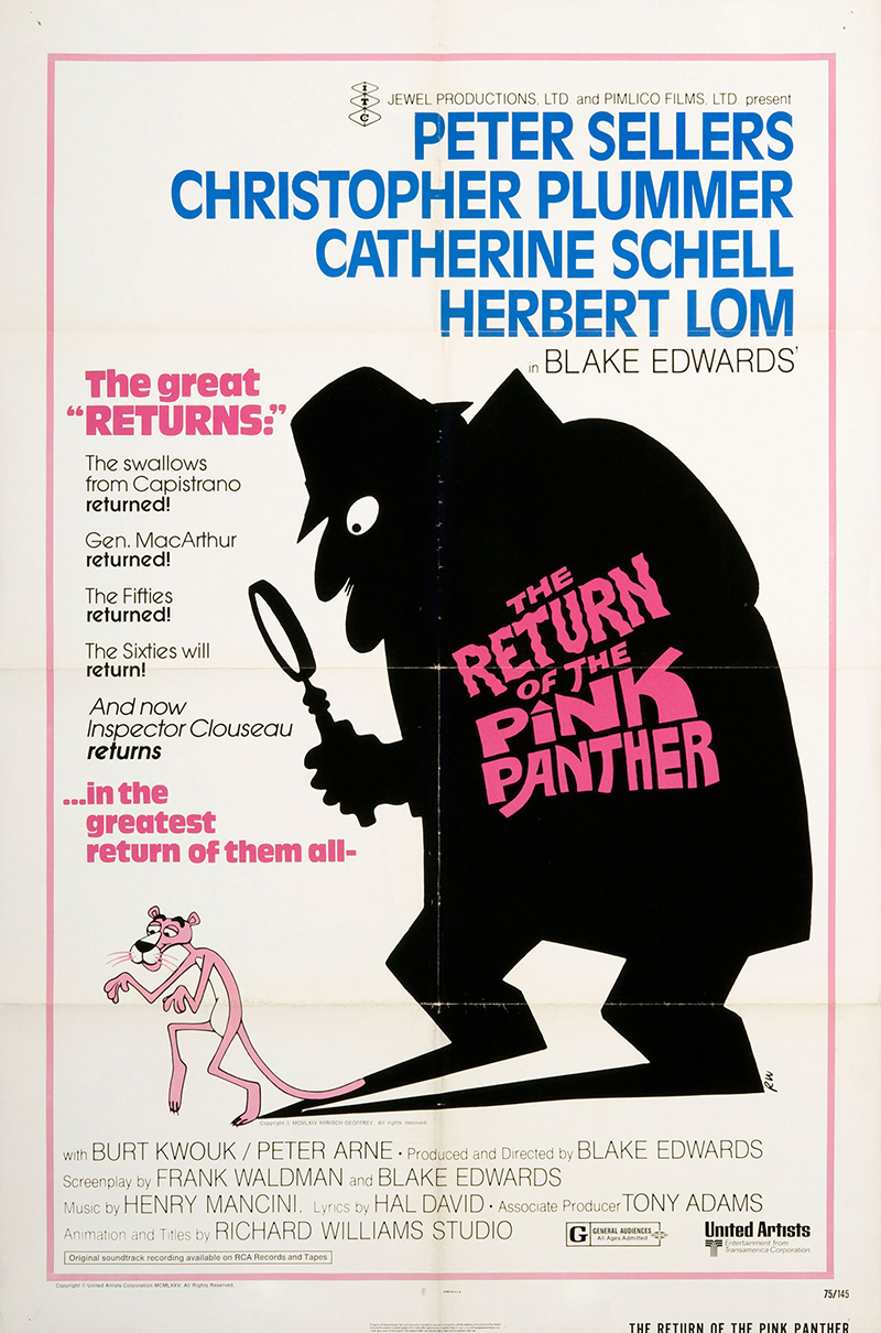 Return of the Pink Panther, The 1975 Original Movie Poster ...