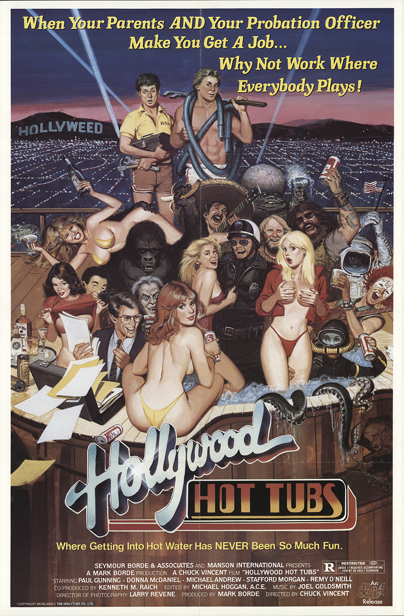 Hollywood Hot Tubs 1984 Original Movie Poster #FFF-30404 ...
