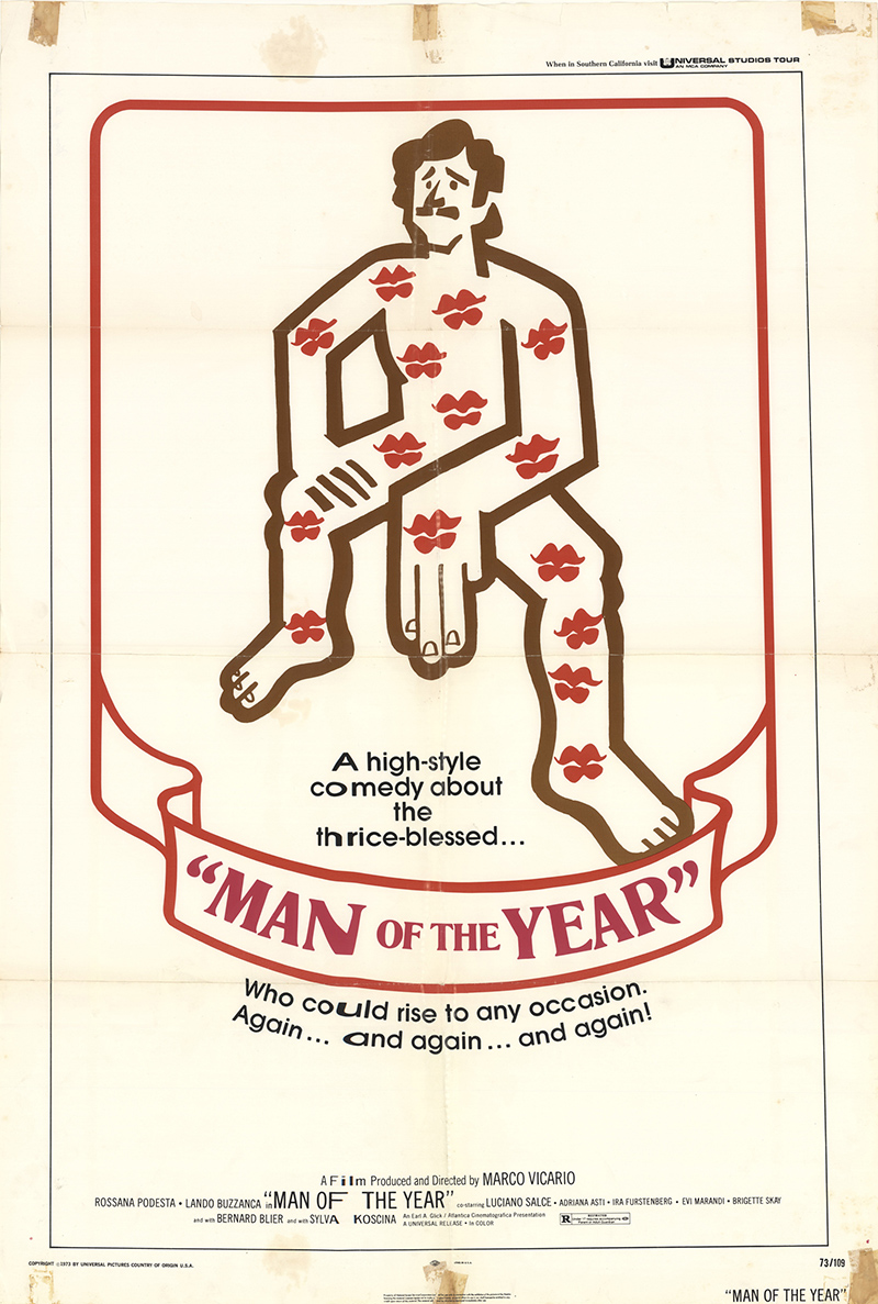 Homo Eroticus (aka Man of the Year) 1973 27x41 Orig Movie Poster FFF ...