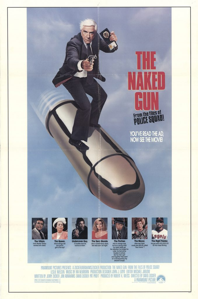 The Naked Gun: From the Files of Police Squad! 1988 Original Vintage Movie Poster