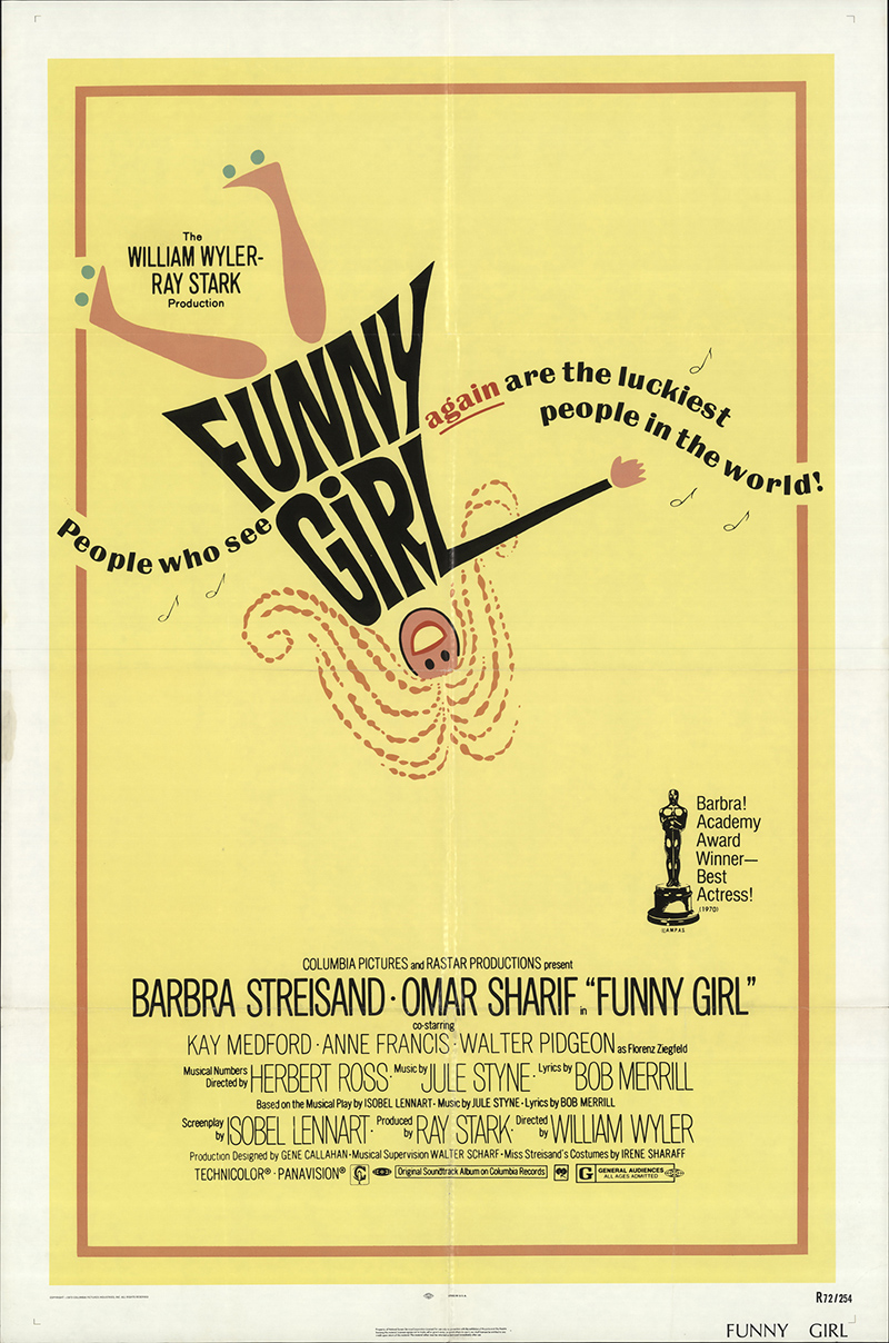 Funny Girl 1972 27x41 Orig Movie Poster FFF-17564 Fine