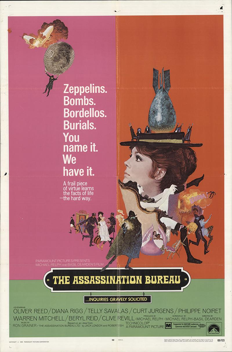 Assassination bureau the 1969 original movie poster fff for Bureau original