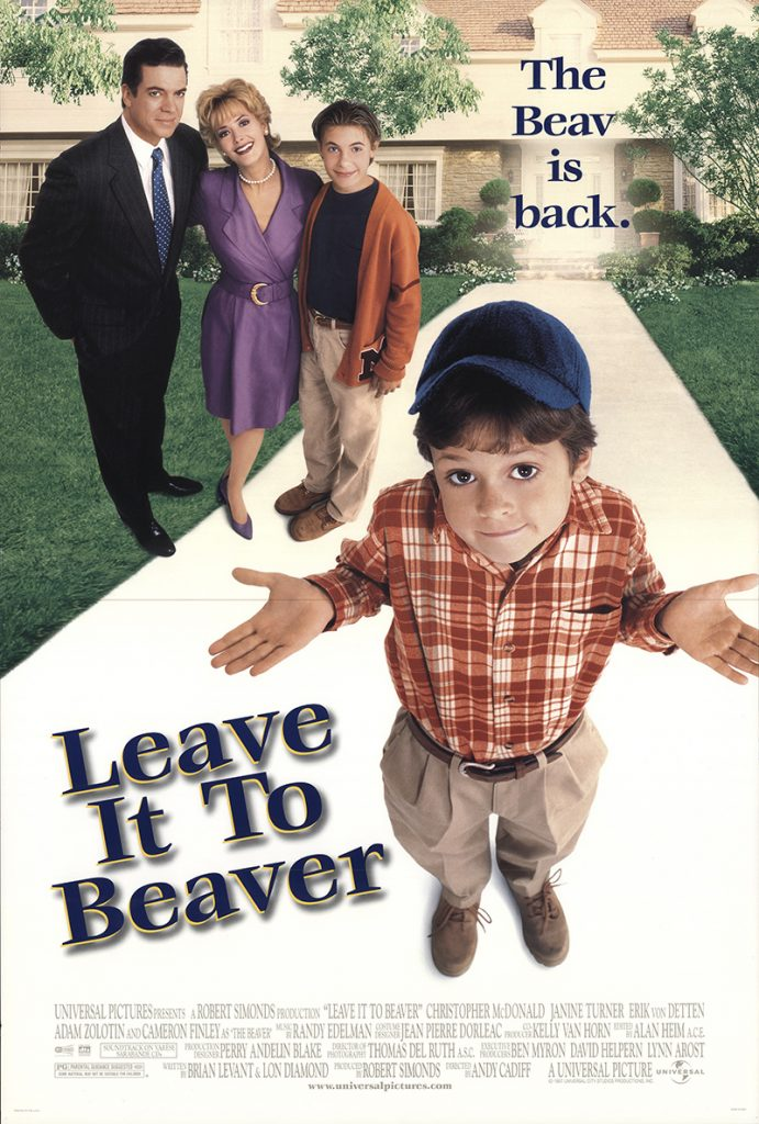 Leave It to Beaver 1997 Vintage Original Movie Poster