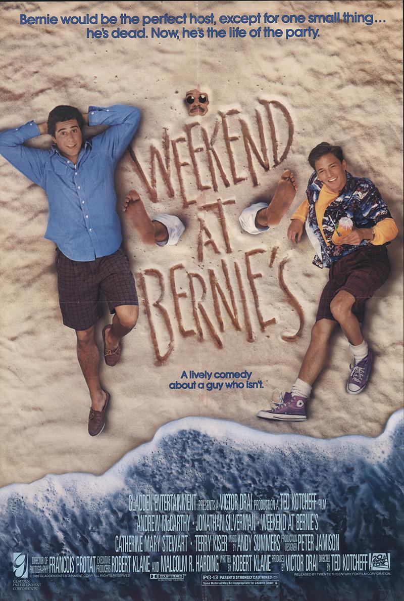 weekend at bernies 1989 original movie poster fff32013