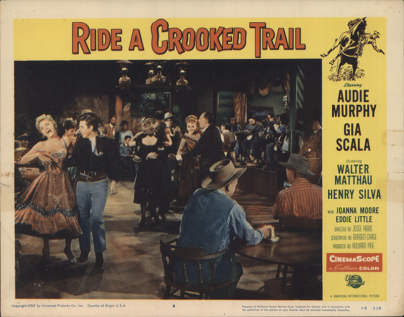 Ride A Crooked Trail 1958 Original Lobby Card Fff 32697 Fffmovieposters Com