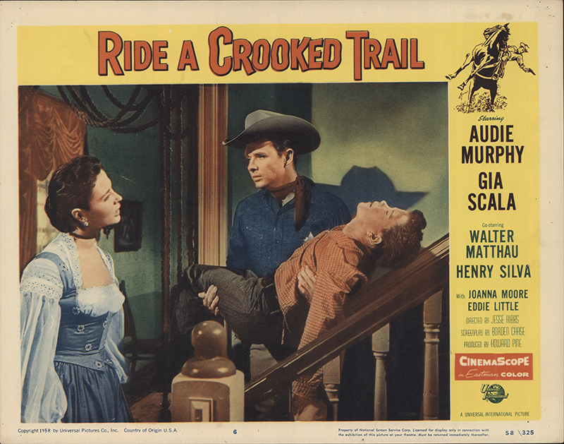 Ride A Crooked Trail 1958 Original Lobby Card Fff 32698 Fffmovieposters Com