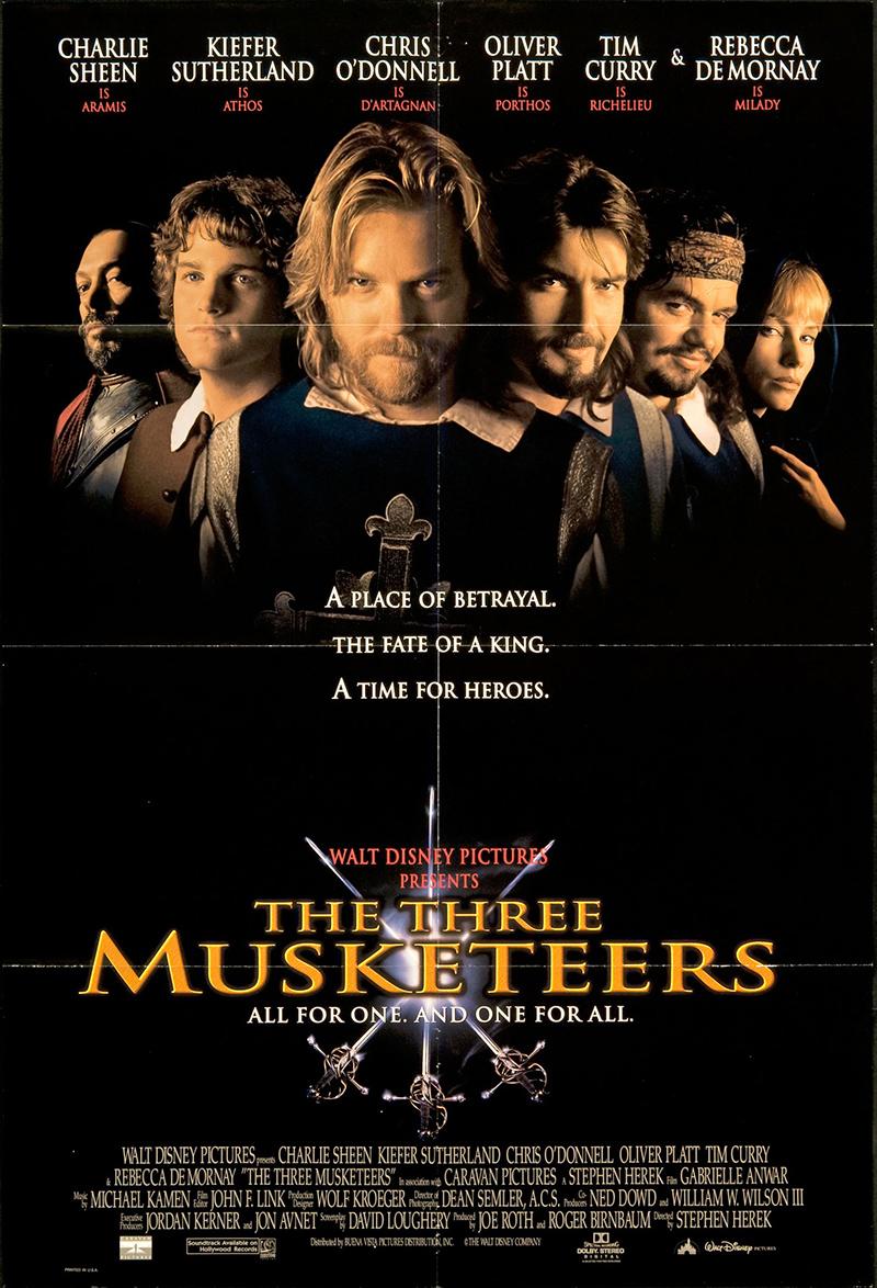 three musketeers the 1993 original movie poster fff
