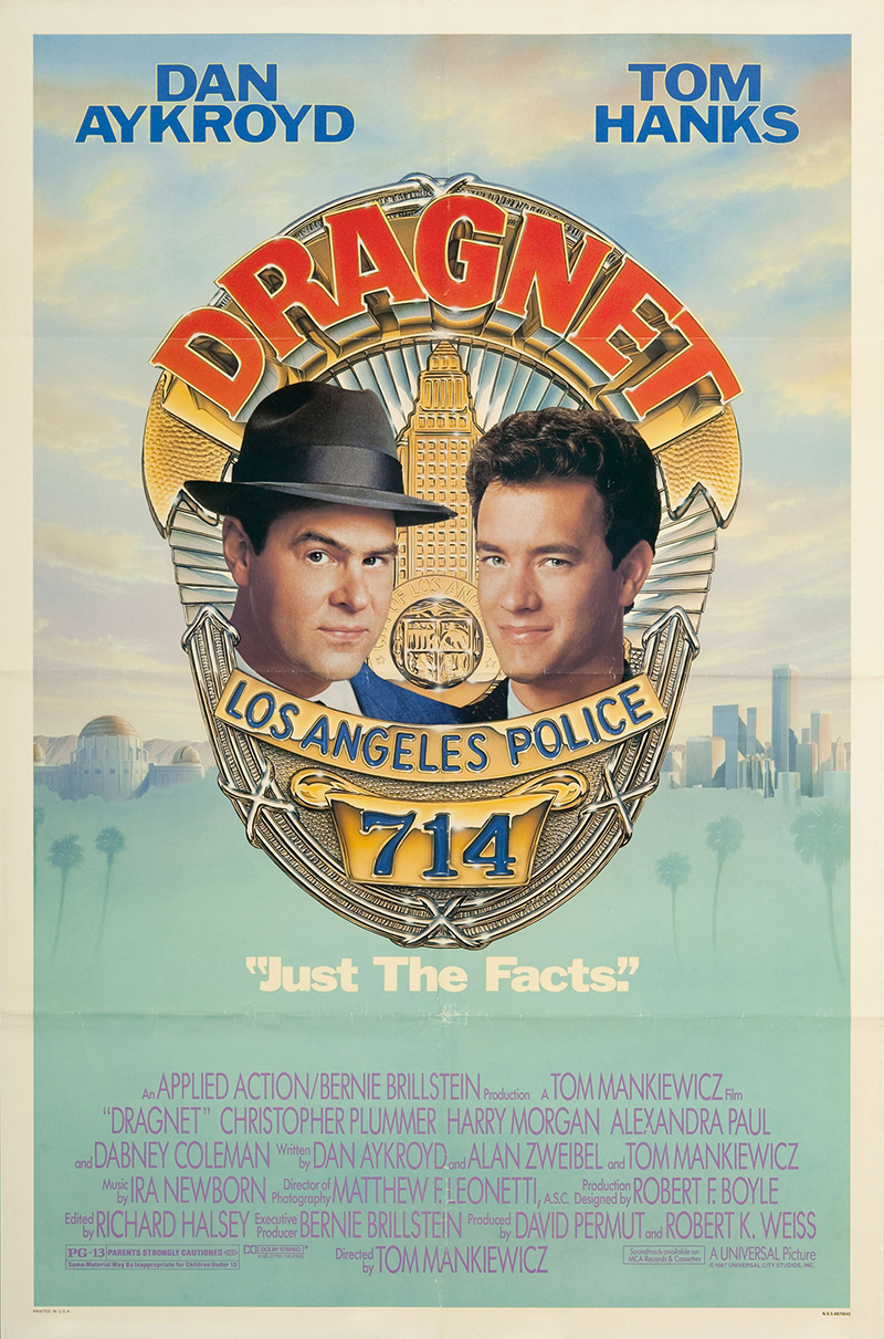 Dragnet 1987 Vintage Original Movie Poster