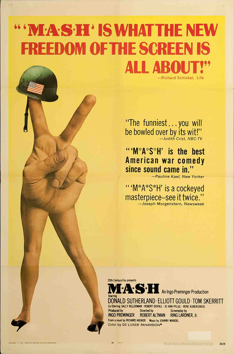 MASH 1970 Original Vintage Movie Poster