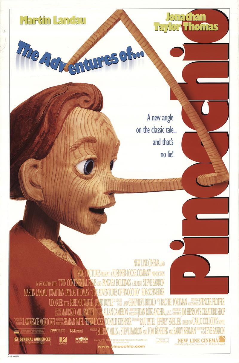 Adventures of Pinocchio, The 1996 Original Movie Poster #FFF-46351  FFFMovieposters.com