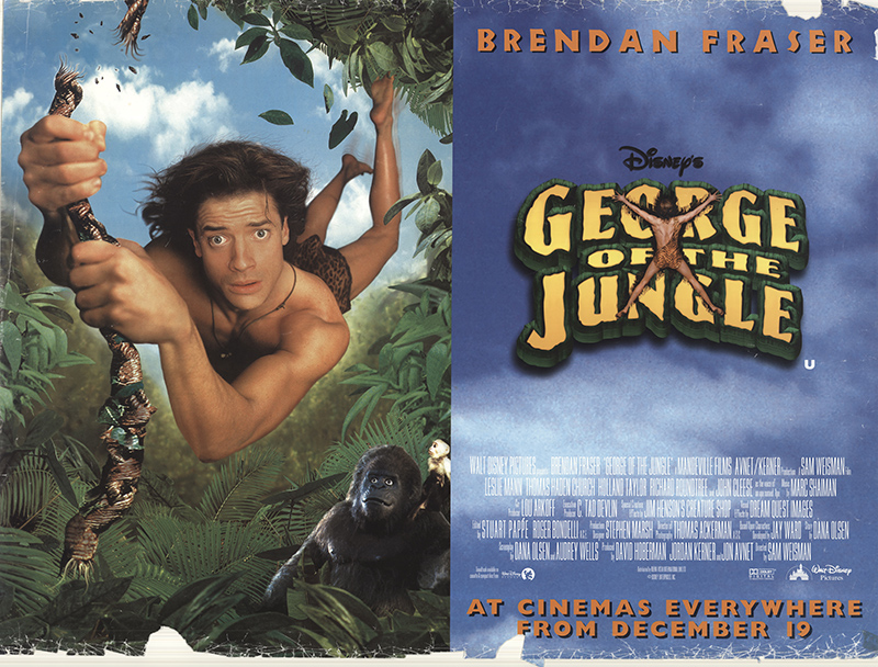 Movie Posters 1997: George Of The Jungle 1997 Original Movie Poster #FFF-49795