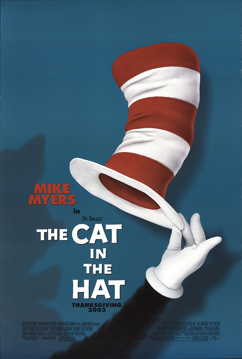 The Cat in the Hat 2003 Vintage Original Movie Poster