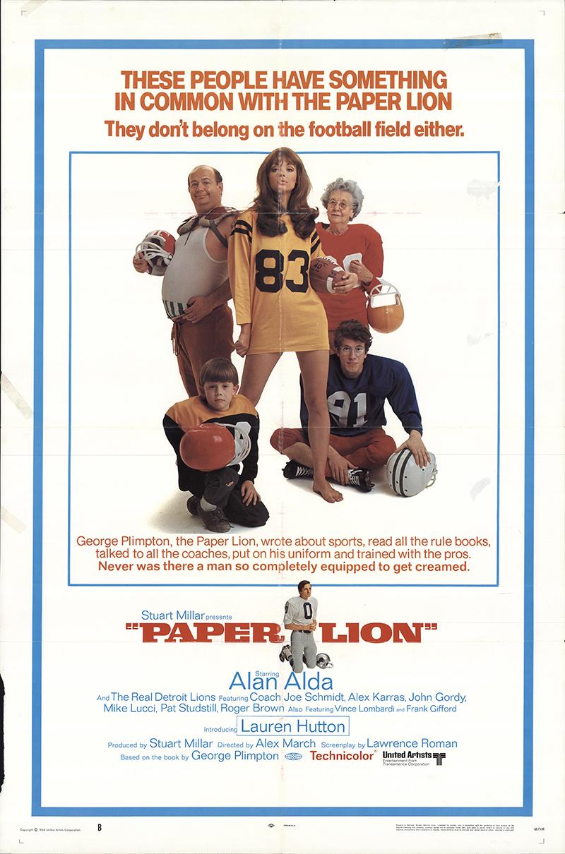 paper lion 1968 original movie poster fff55070