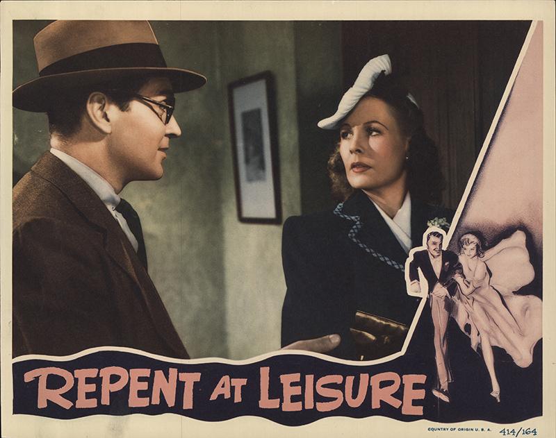 Repent At Leisure 1941 Original Lobby Card Us Lobby Card Fff 55317
