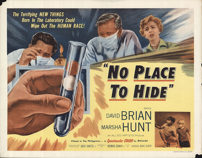 no place to hide 1956 original movie poster fff56325