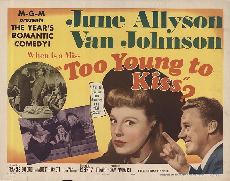 Too Young to Kiss 1951 Original Movie Poster #FFF-56363 |  FFFMovieposters.com