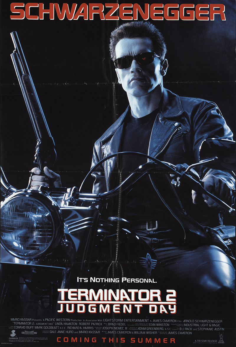 Terminator 2: Judgment Day 1991 Original Movie Poster #FFF ...