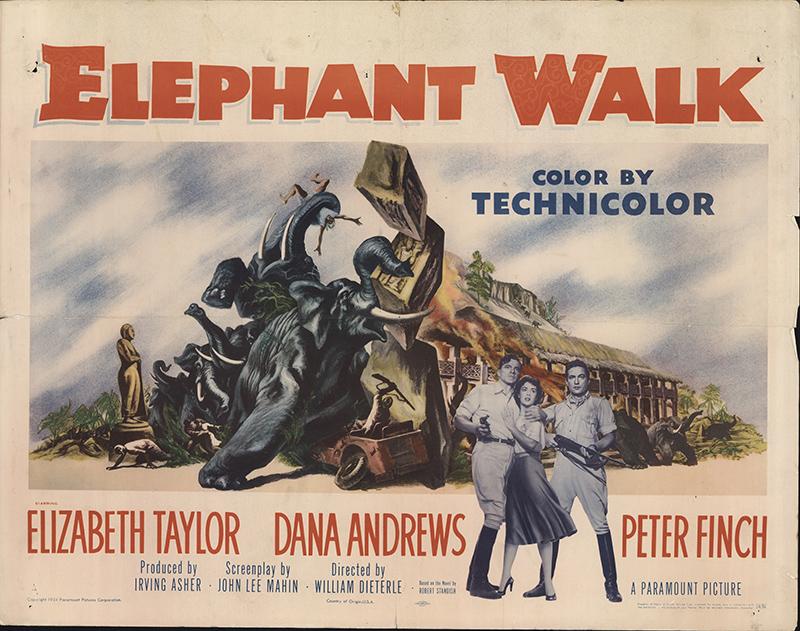 Elephant Walk 1954 Original Movie Poster #FFF-62237 ...