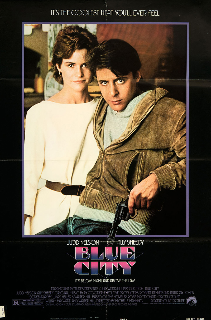 Ally Sheedy Original Vintage Movie Posters Short Circuit 27x40 Poster 1986 Blue City