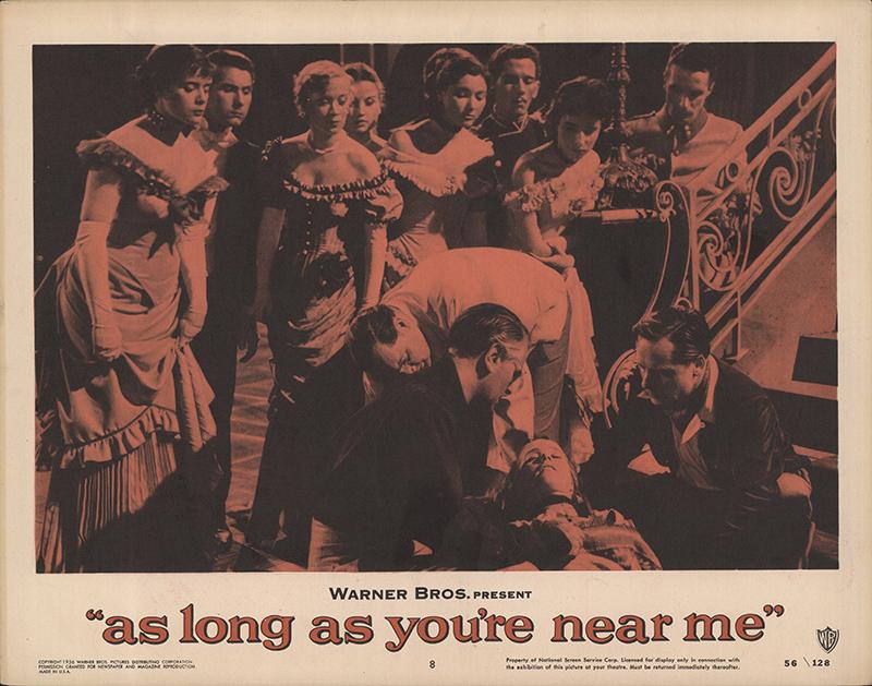 as long as you 39 re near me 1956 original lobby card fff 65568. Black Bedroom Furniture Sets. Home Design Ideas