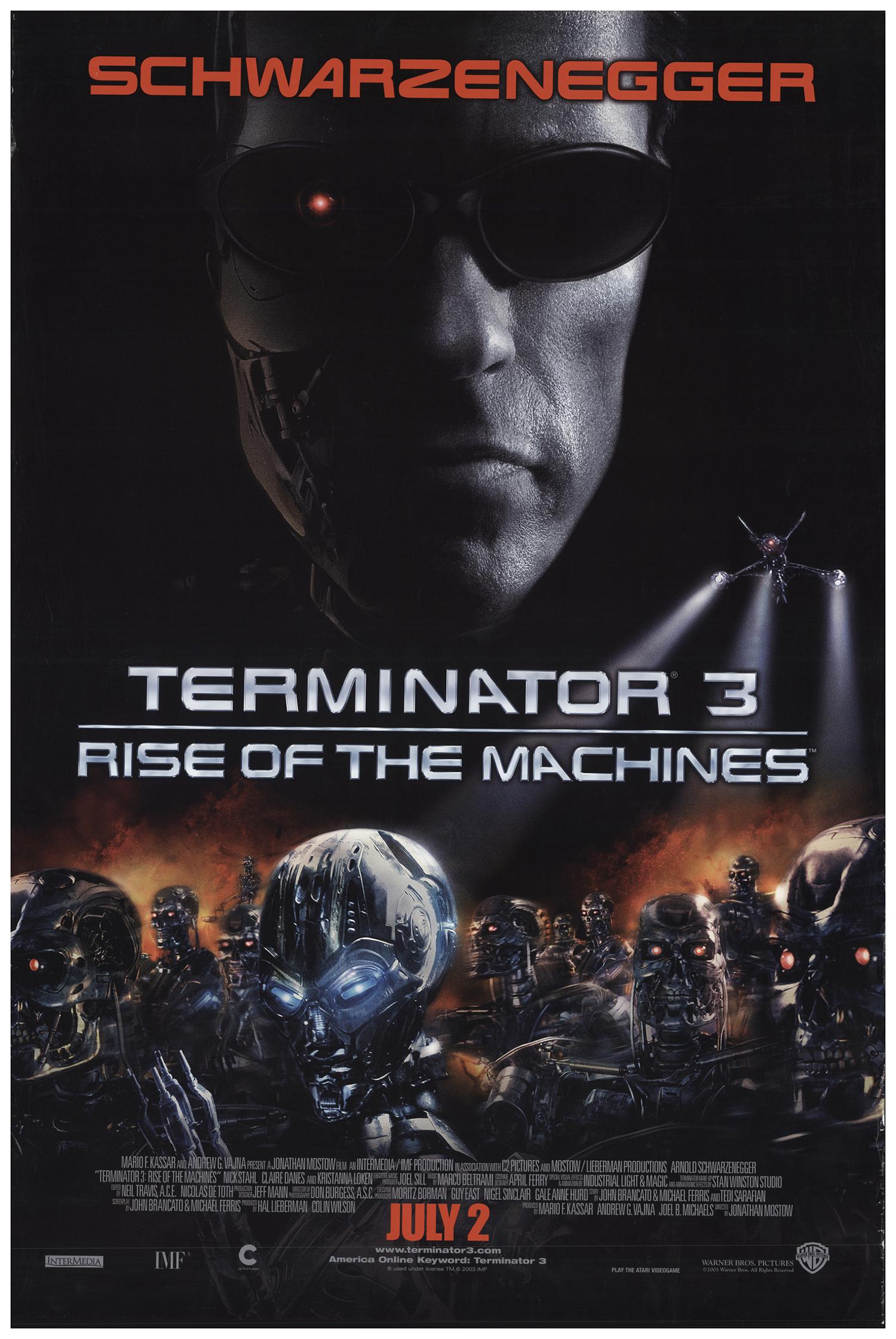 Terminator 3: Rise of the Machines 2003 27x40 Orig Movie ...