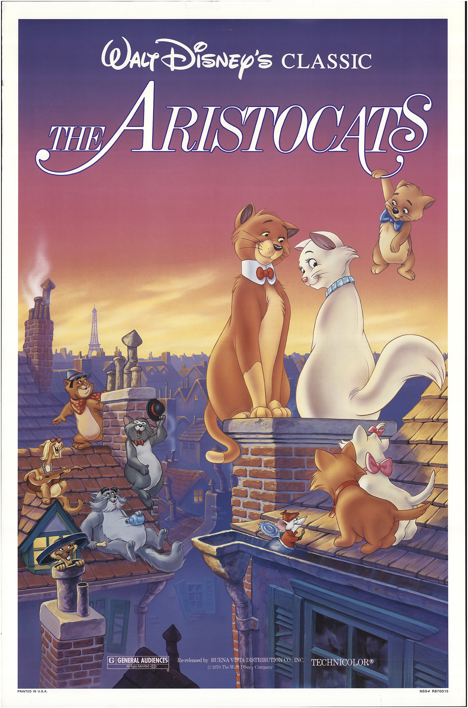 Aristocats, The 1987 Original Movie Poster #FFF-67224 | FFFMovieposters.com