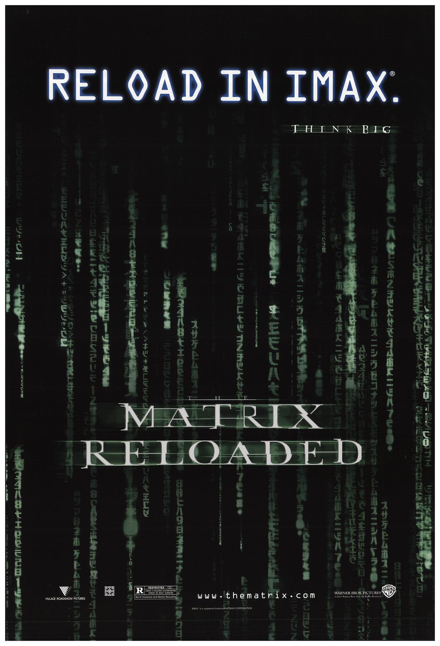 Matrix Reloaded, The 2003 Original Movie Poster #FFF-67233 ...