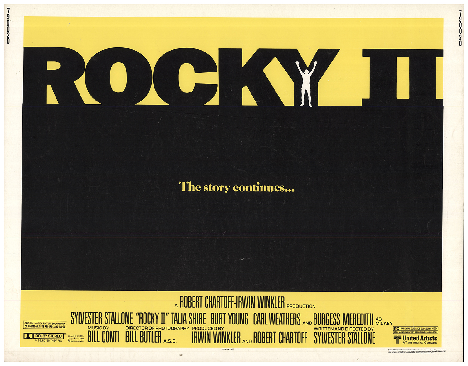 1979 Movie Posters: Rocky II 1979 22x28 Orig Movie Poster FFF-67633 Never