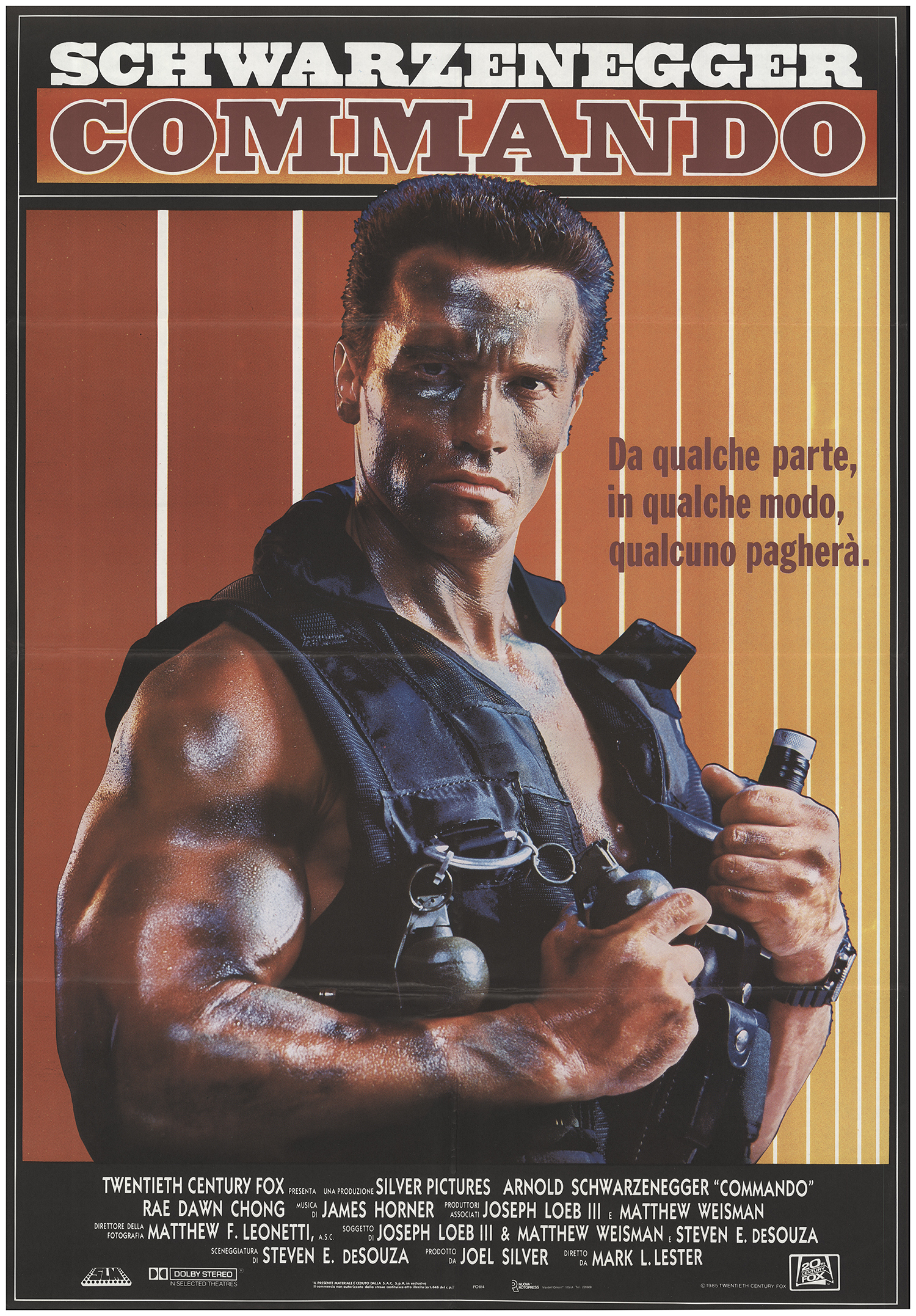 Commando Movie POSTER 27 x 40 LICENSED NEW Arnold Schwarzenegger A