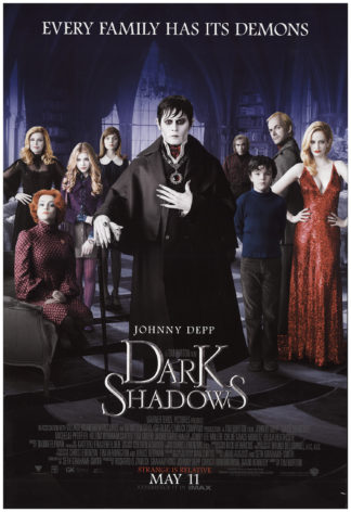 Dark Shadows 2012 Vintage Original Movie Poster