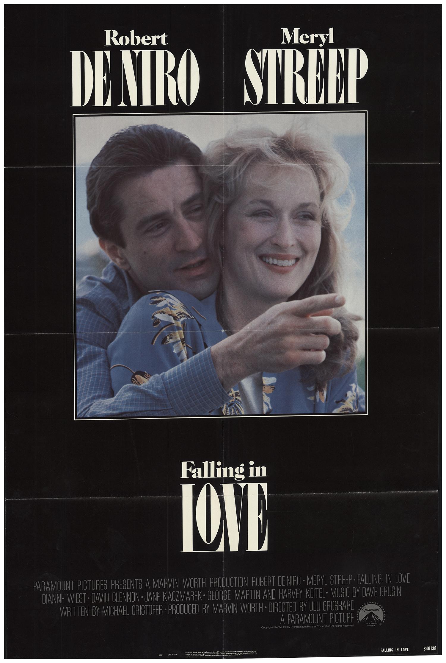 Falling In Love 1984 27x40 Orig Movie Poster Fff 68526 Rolled Meryl