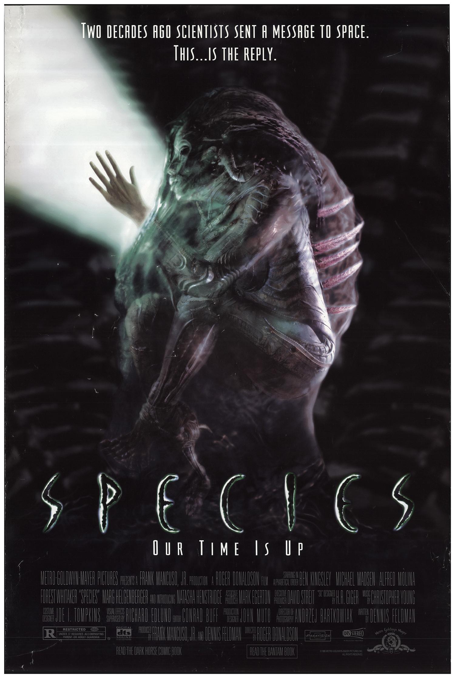 Species 1995 Original Movie Poster #FFF-68683 ...