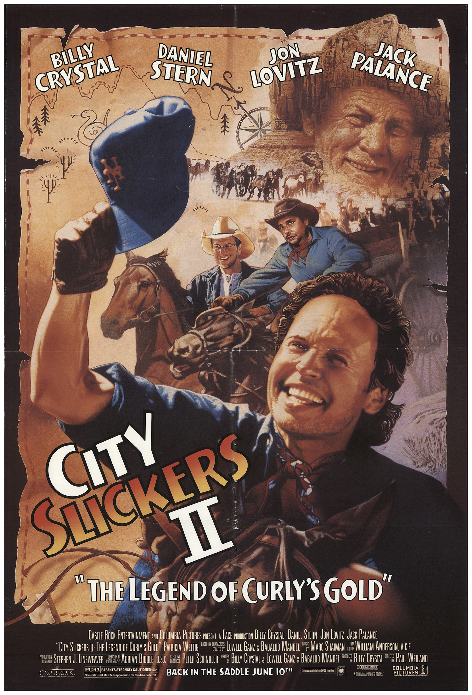 City Slickers II: The Legend of Curly's Gold 1994 Original Movie Poster  U S  One Sheet Advance FFF-69323