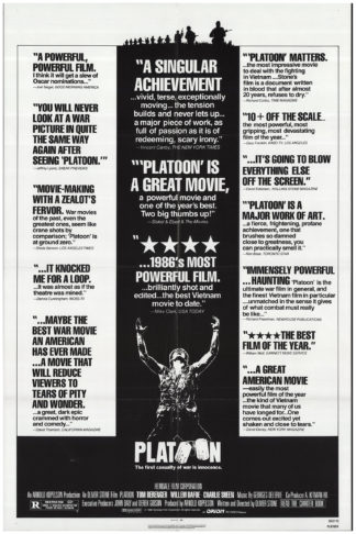 1986 • A4 to A1 POSTER • FREE DELIVERY PLATOON