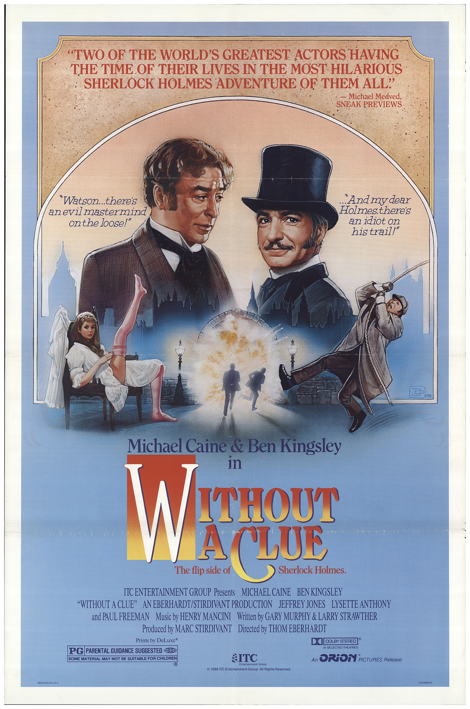 Image result for without a clue movie poster
