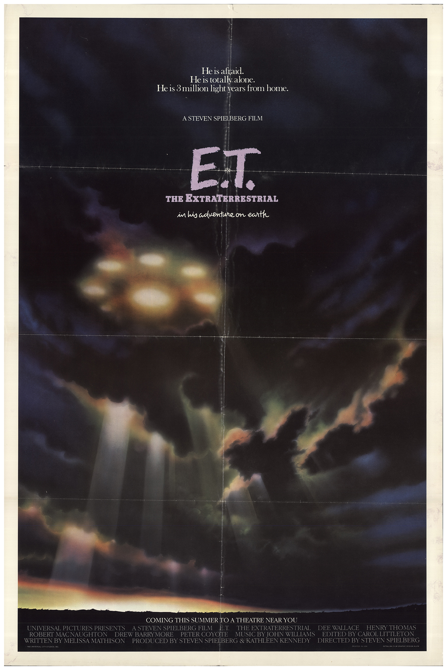 Extra Terrestrial1982 Orig MoviePoster 27 x41 Single Sided Mint E.T