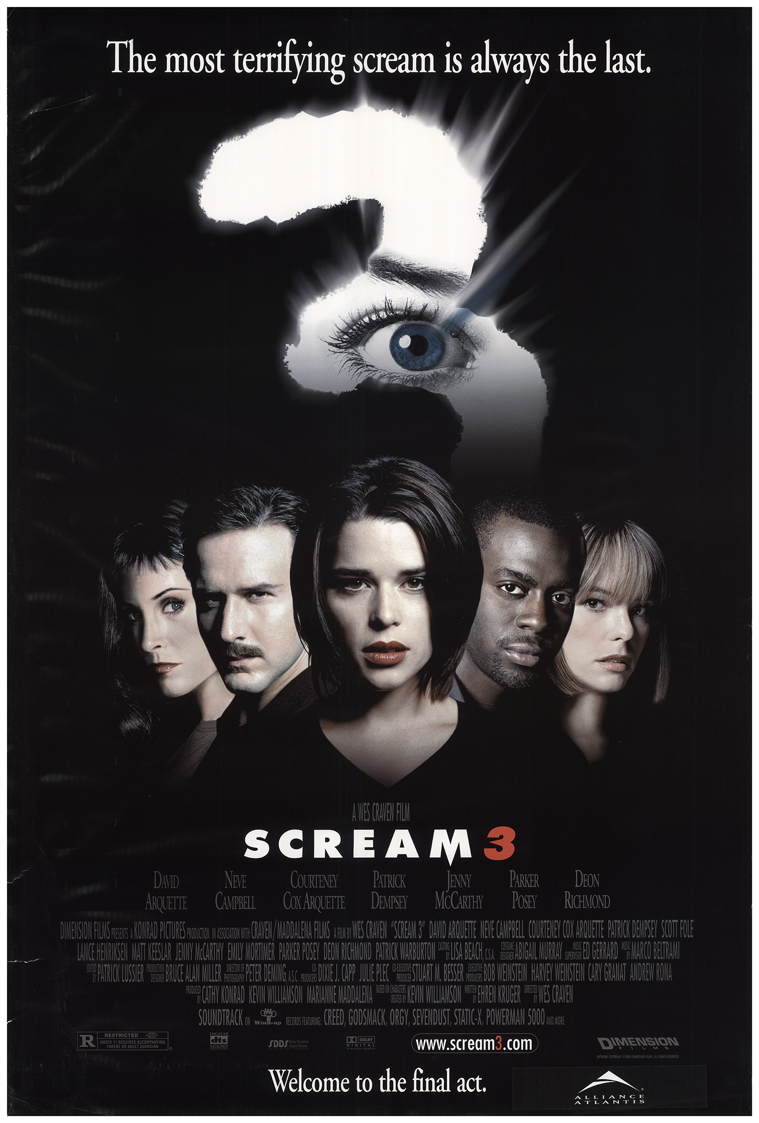Scream 3 2000 Original Movie Poster #FFF-73732 | FFFMovieposters.com