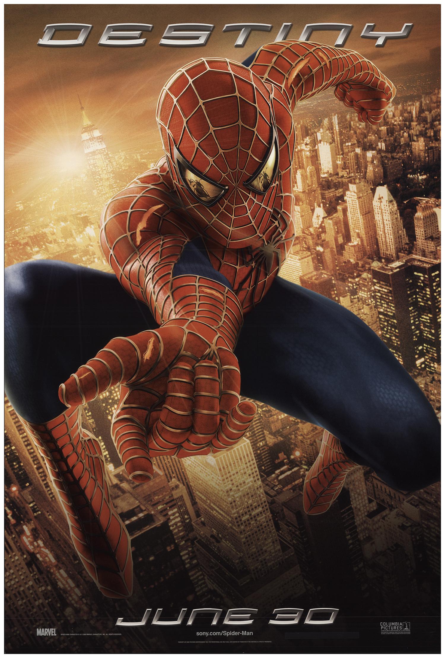 Spider Man 2 2004 Original Movie Poster U S One Sheet Advance Fff 73778