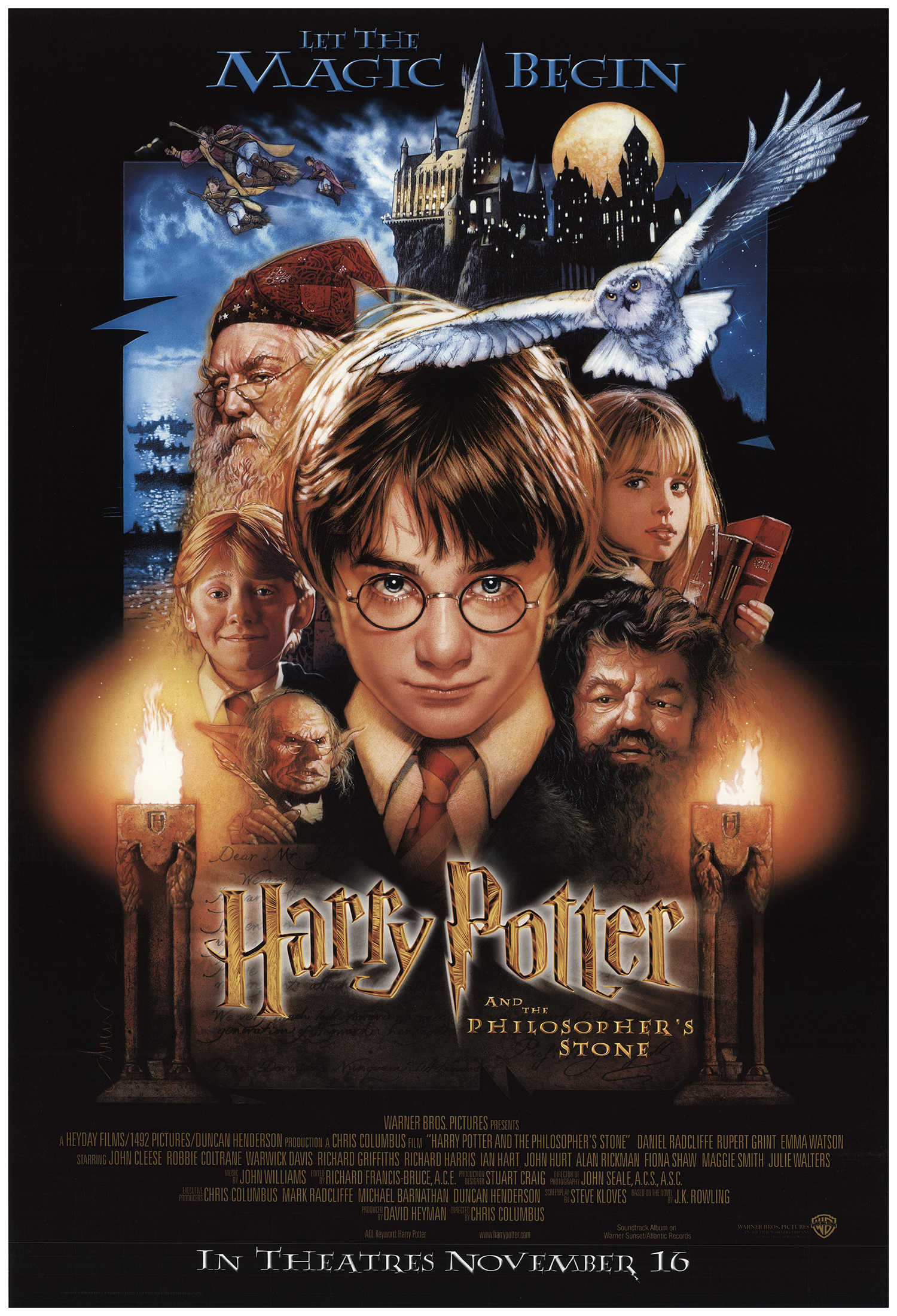Harry Potter And The Sorcerers Stone 2001 Original Movie Poster Us One Sheet Advance Fff 73931