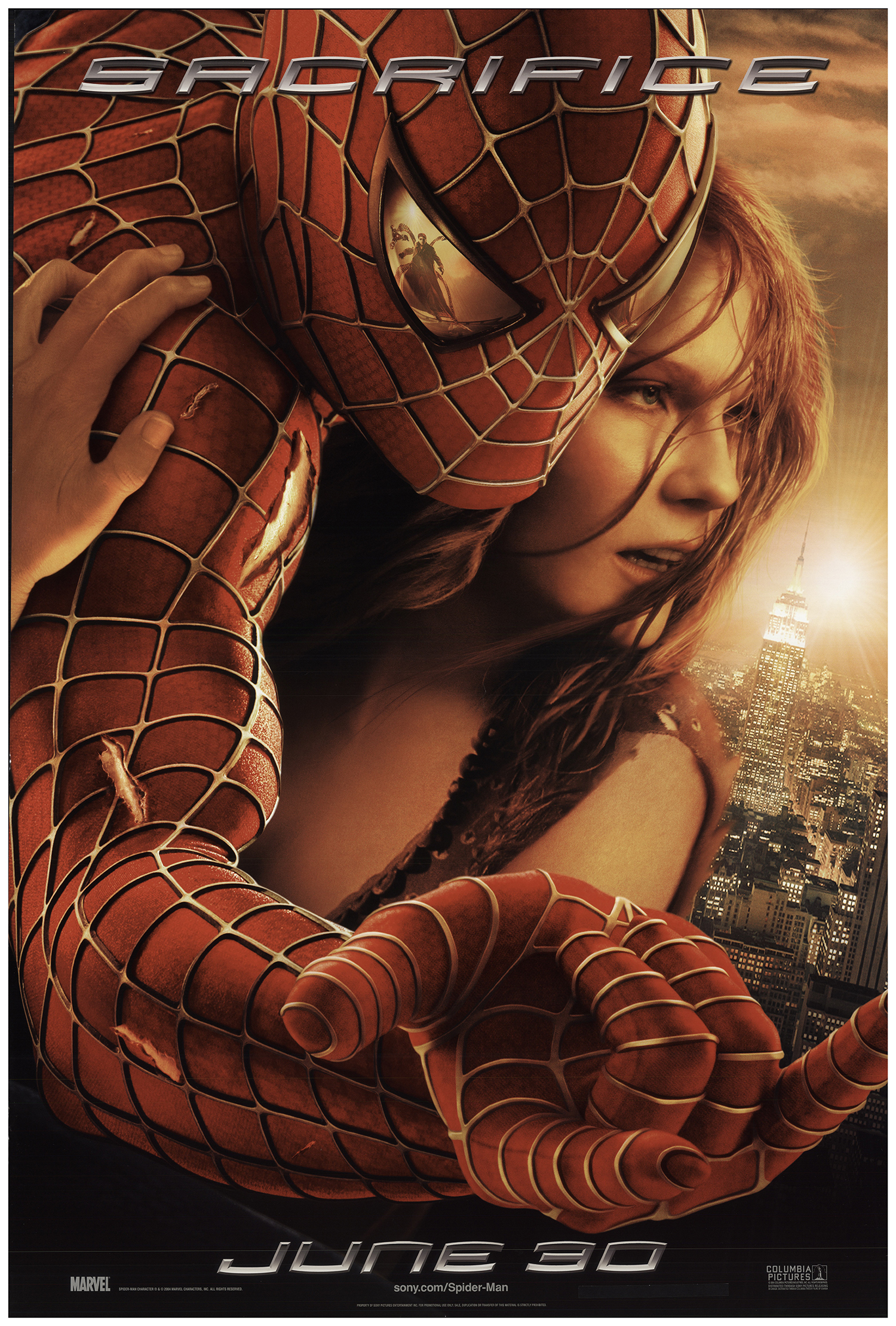 Spider Man 2 2004 Original Movie Poster U S One Sheet Advance Fff 74034