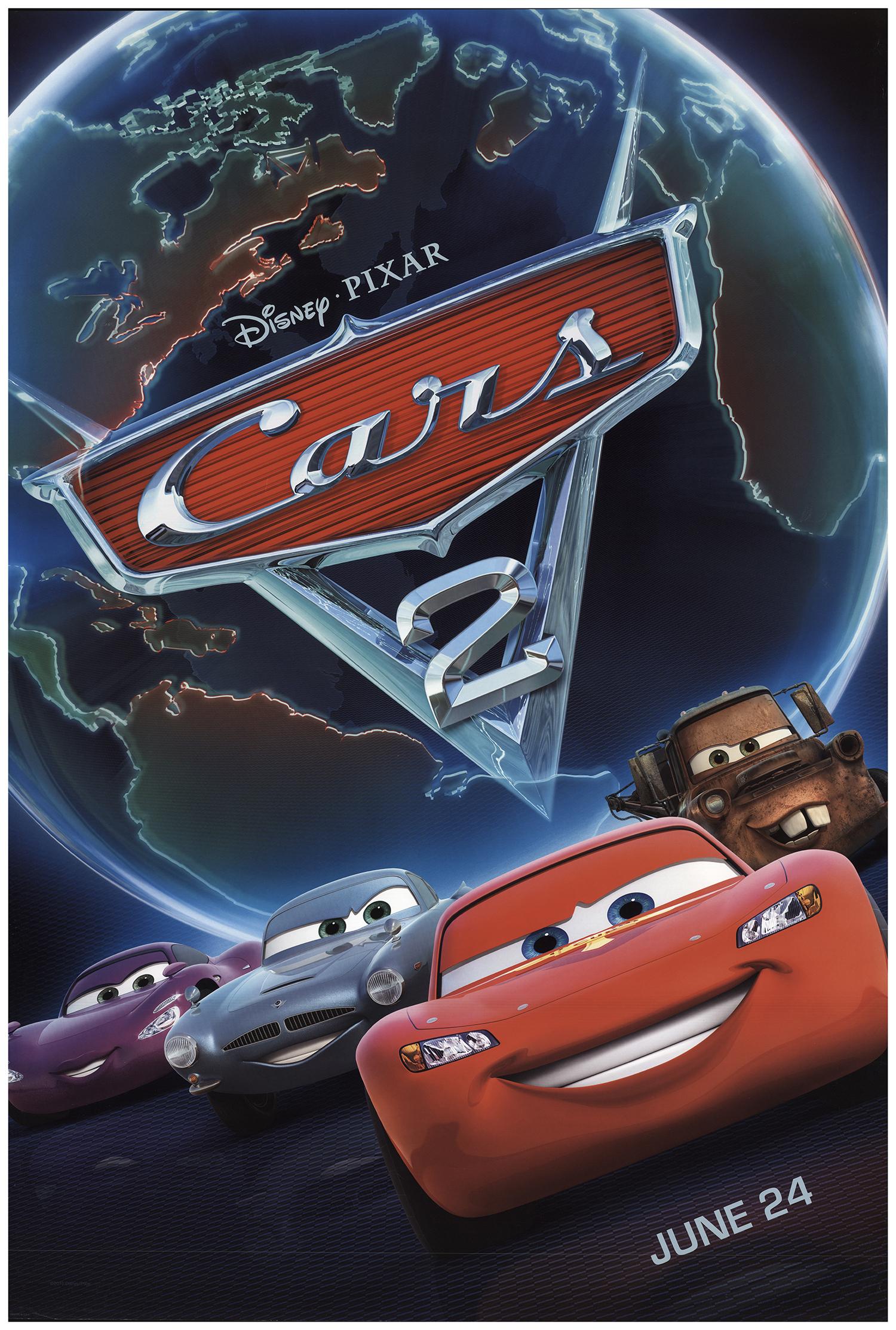 Cars 2 2011 Original Movie Poster Fff 74119 Fffmovieposters Com
