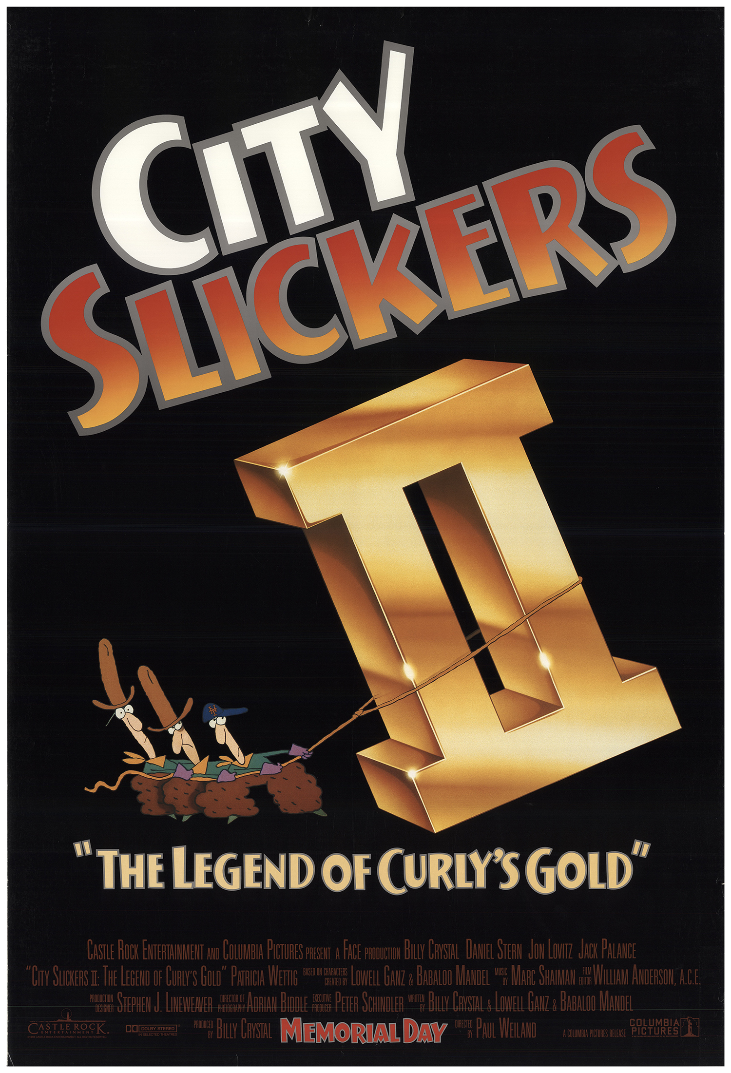 City Slickers II: The Legend of Curly's Gold 1994 Original Movie Poster  U S  One Sheet Advance FFF-74357