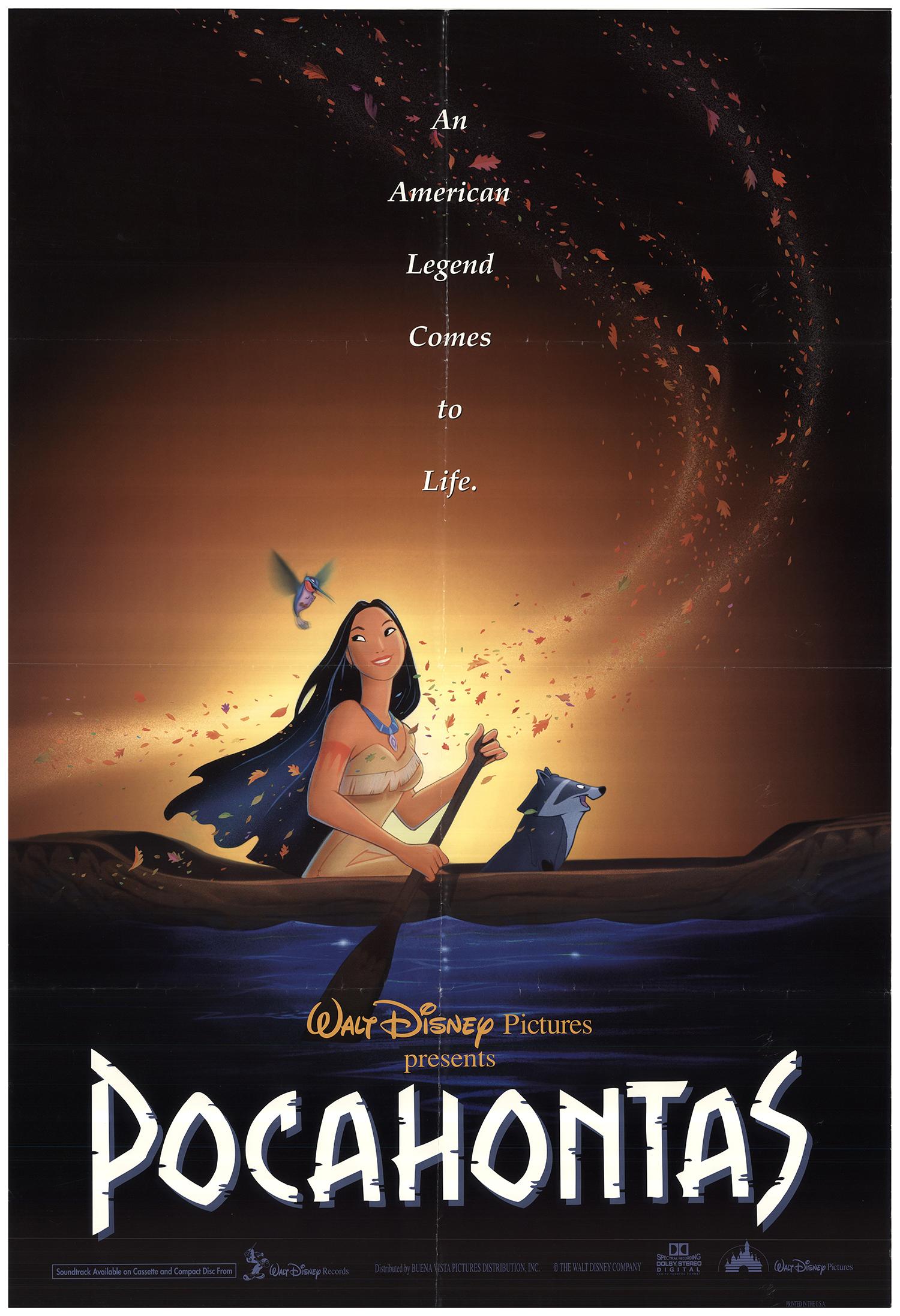 Pocahontas 1995 Original Movie Poster Fff 79543 Fffmovieposters Com