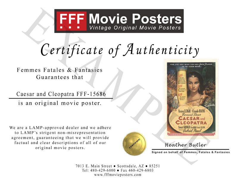 FFF Certificate of Authenticity Example